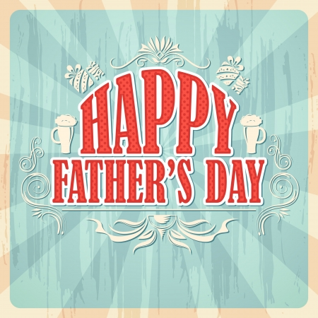 Happy Father's Day Achtergrond Stock Illustratie