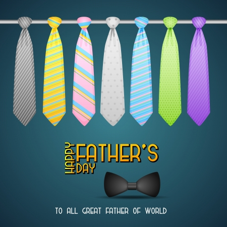 Father s Day Background with Tie Vector