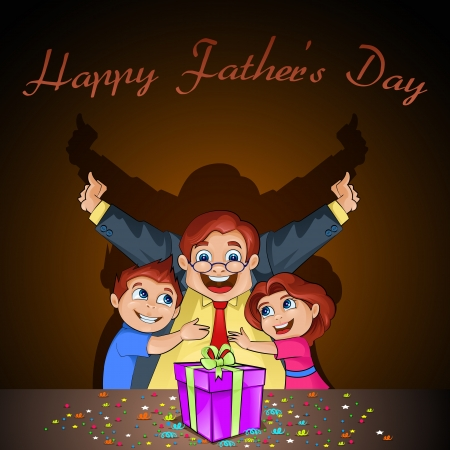 Father s Day Background with father and kids