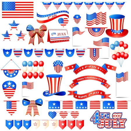 American Independence Day Element Vector