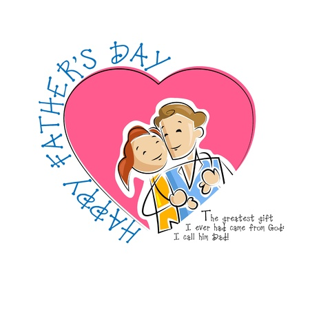 Father and daughter in Father s Day background Stock Vector - 19868817
