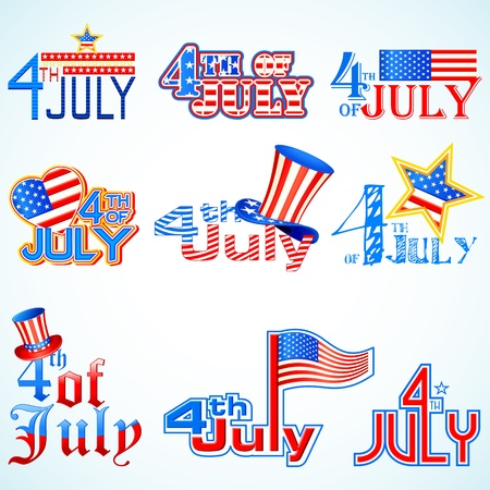 independence day: Fourth of July American Independence Day Illustration