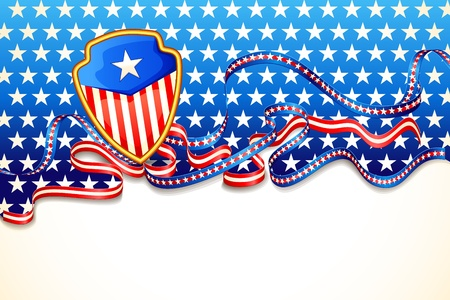 july 4th: American Flag Background Illustration