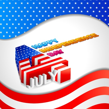 Fourth of July American Independence Day Stock Vector - 20058599