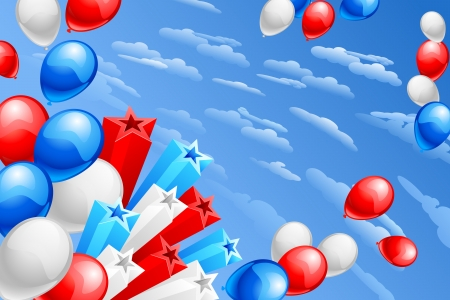 American Flag Colored Balloon Stock Vector - 20058597