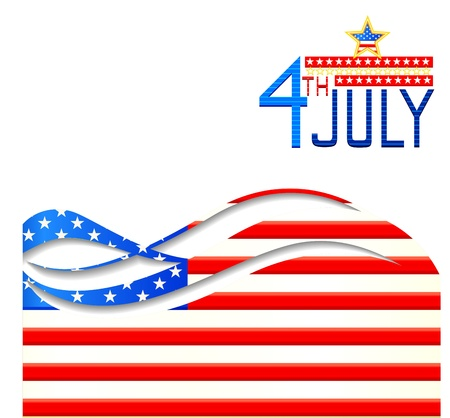 Fourth of July American Independence Day Stock Vector - 20288253