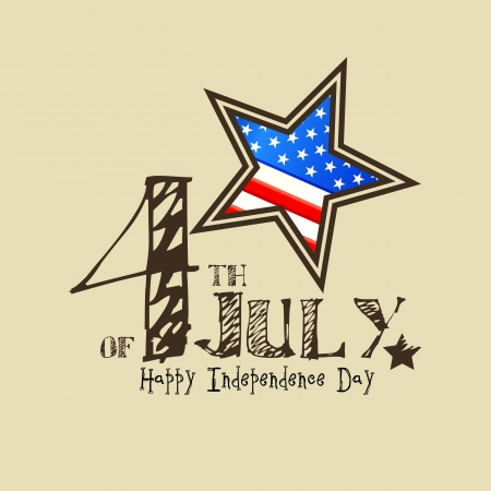 fourth july: Fourth of July American Independence Day Illustration