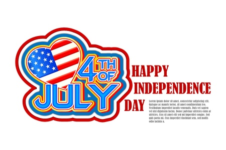Fourth of July American Independence Day Illustration