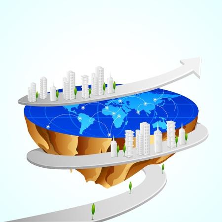 Buildings around Earth Stock Photo - 20288295