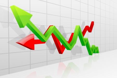 Profit and Loss Arrow Stock Vector - 20288259