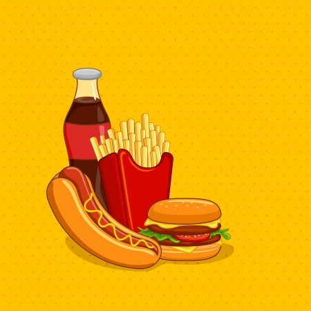 Fastfood with Soft Drink Stock Vector - 20288330