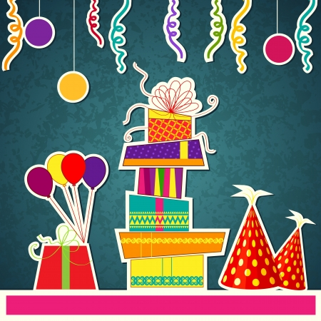 Colorful Birthday Card Stock Vector - 20916013