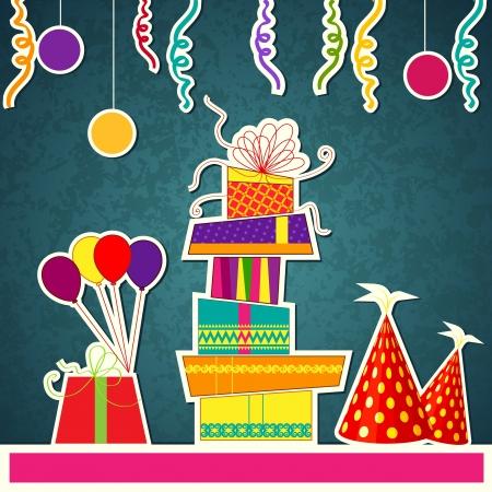 Colorful Birthday Card Illustration
