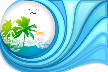 Sea Beach Stock Vector - 20916016