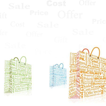 Colorful Shopping Bag Stock Vector - 20916019