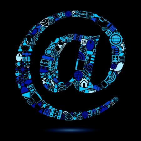 e-mail Symbol made of Web Icon Stock Vector - 20916024