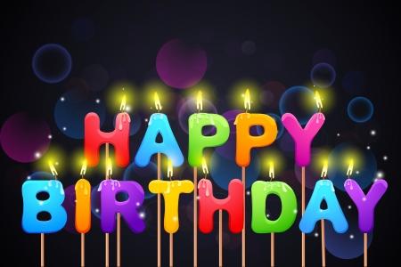 Happy Birthday Candle Stock Vector - 20916026