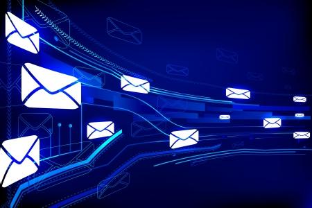levelezés: Technológiai háttér Stock fotó