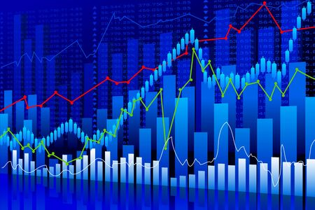 Business Graph Background Stock Photo - 20916118