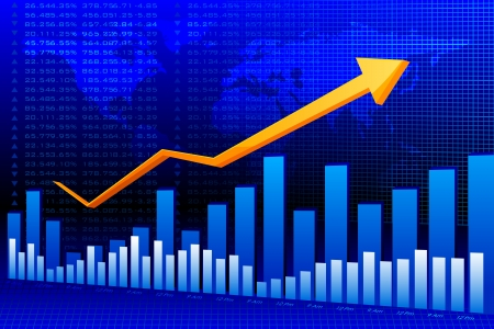Business Graph Background Stock Photo - 20916127