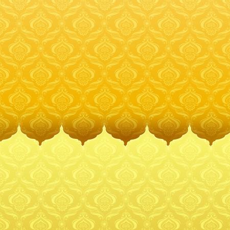 illustration editable: Seamless Floral Pattern Stock Photo