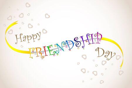 friendship day: vector illustration of Happy Friendship Day band
