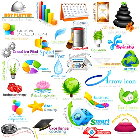 consultancy: vector illustration of abstract business design element Illustration