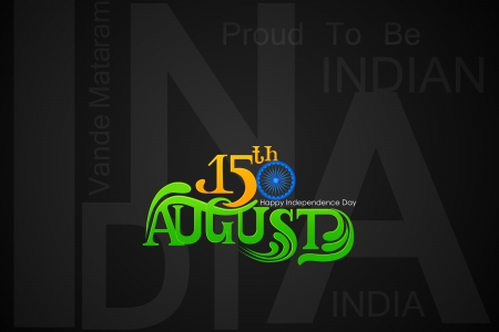 aug: illustration of Indian Independence Day background Stock Photo