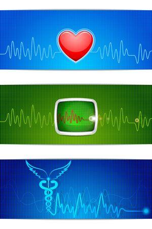 vector illustration of medical banner for header Stock Vector - 21188971