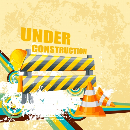 illustration of under construction background with road barrier Stock Vector - 21188973