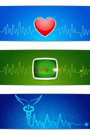 vector illustration of medical banner for header Stock Illustration - 21188996