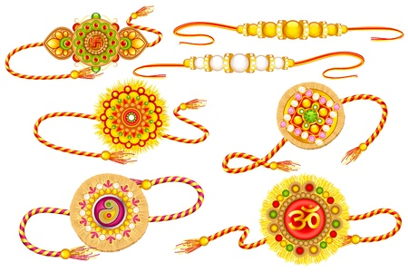 Decorated Rakhi Stock Vector - 21458576