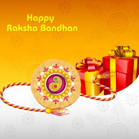 Rakhi with Gift for Raksha Bandhan Stock Vector - 21458570