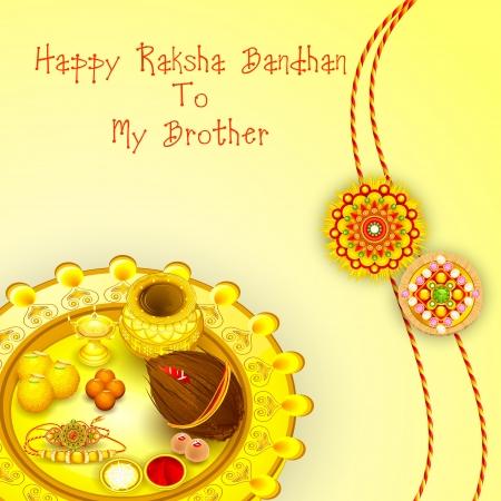 Rakhi Pooja thali voor Raksha Bandhan Stockfoto - 21458569