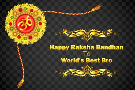 Decorated Rakhi for Raksha Bandhan Stock Vector - 21458613