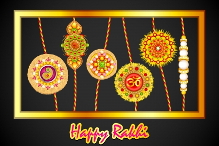 Decorated Rakhi for Raksha Bandhan Stock Vector - 21458562