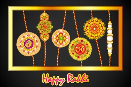 Decorated Rakhi for Raksha Bandhan Stock Vector - 21458562