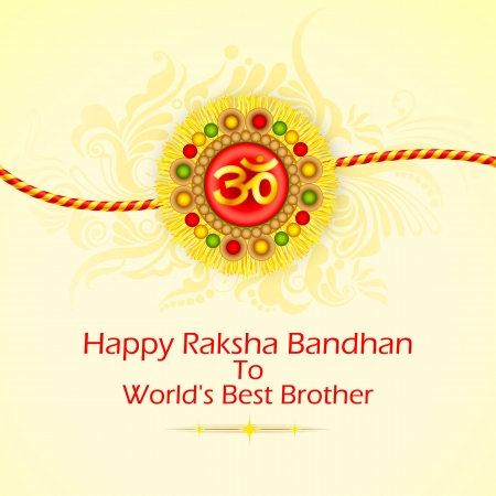 Decorated Rakhi for Raksha Bandhan Stock Vector - 21458687