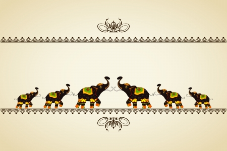 cultura: Elefante decorado que muestra la cultura india