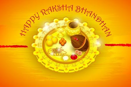 Rakhi pooja thali for Raksha Bandhan Stock Vector - 21458597