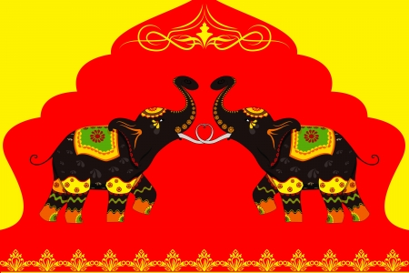 indian elephant: Decorated Elephant showing Indian culture