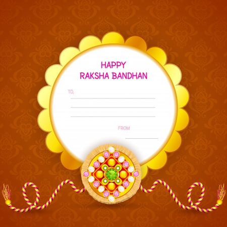 raksha: vector illustration of decorated rakhi for Raksha Bandhan
