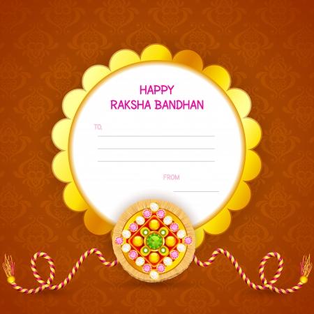 raksha bandhan: vector illustration of decorated rakhi for Raksha Bandhan