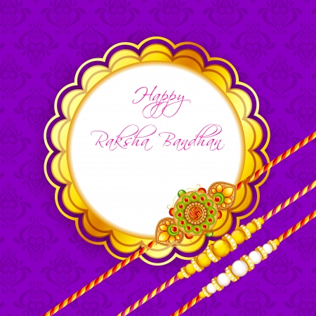 pearls and threads: vector illustration of decorated rakhi for Raksha Bandhan