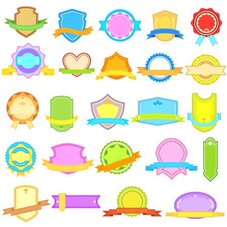 vector illustration of colorful label and tag Stock Vector - 22724594