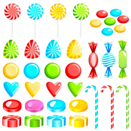 toffee: vector illustration of colorful candies Illustration