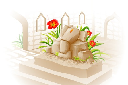 lord ganesha: vector illustration of Lord Ganesha made of stone