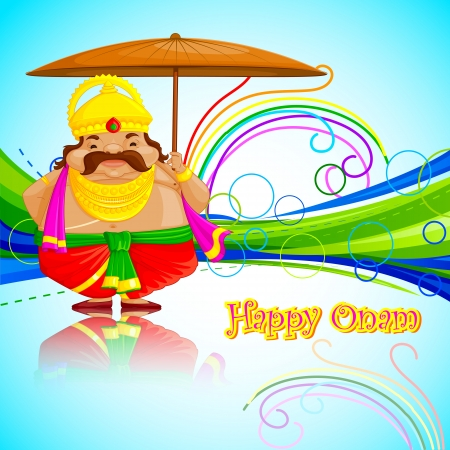 vector illustration of King Mahabali wishing Happy Onam Stock Vector - 22724997
