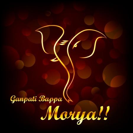 vector illustratie van Lord Ganesha te zeggen Oh Ganpati Mijn Heer