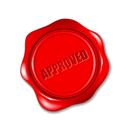signatory: vector illustration of approved wax seal